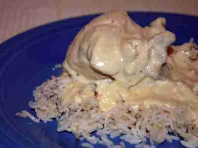 Chicken with Cream Sauce