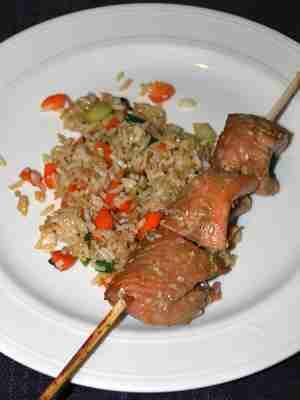 Salmon Kebob