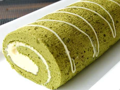 green tea roll