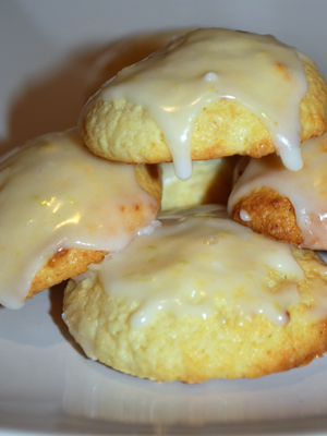 Italian Lemon Ricotta Cookies with Lemon Glaze