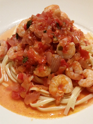 Pasta with Shrimp and Tomatoes