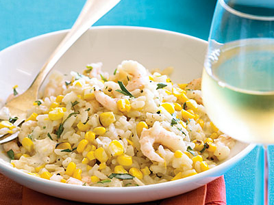 Shrimp Risotto with Corn